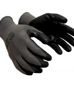 Nitrile Coated Work Gloves Black Grey