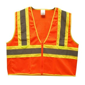 Orange Lime Green Two-Toned Safety Vest