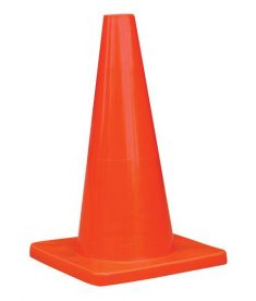 Orange PVC Traffic Cone 12-Inch TruForce