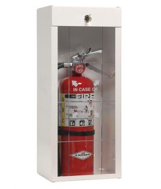Grid-Scored Plastic Fire Extinguisher Cabinet Cover