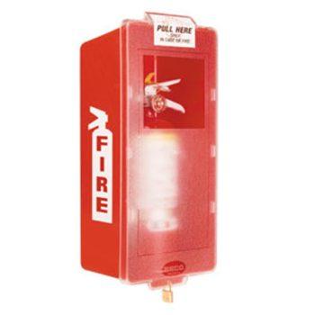 Plastic Indoor Fire Extinguisher Cabinet Mark I Jr Red-Clear