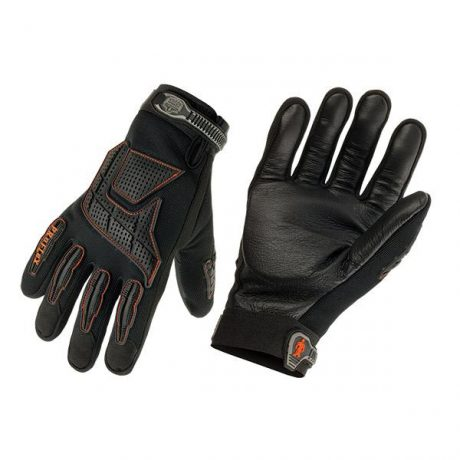 Pro Flex Anti-Vibration Jackhammer Work Gloves - Black