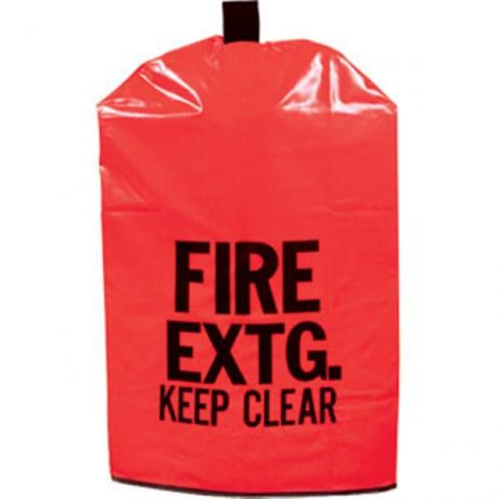 Red Fire Extinguisher Cover Reinforced Vinyl