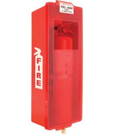 Red Indoor Outdoor Fire Extinguisher Cabinet Mark I Jr