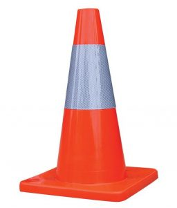 Reflective Traffic Cone Silver Orange TruForce