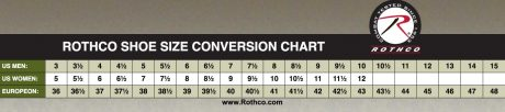 Rothco Shoe Size Conversion Chart