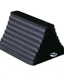 Rubber Wheel Tire Chock Fluted Grip