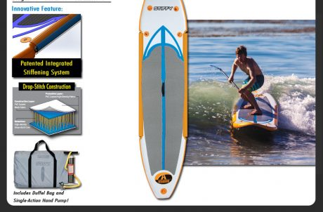 Stiffy Sup Stand Up Paddleboard with Hand Pump and Carrying Case
