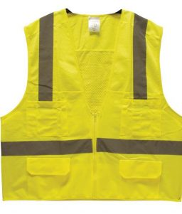Surveyors Safety Vest Lime ANSI 107 Class 2 TruForce