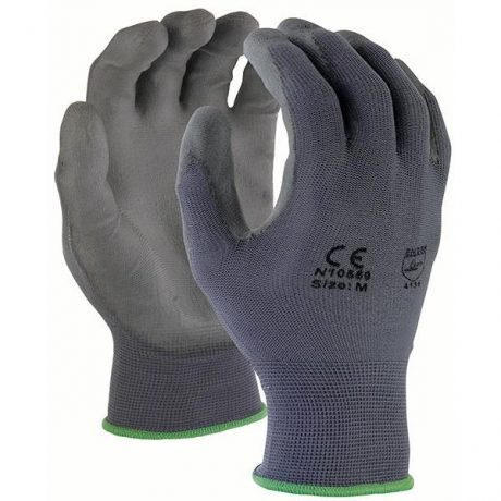 TruForce Gray Polyurethane Coated Work Gloves