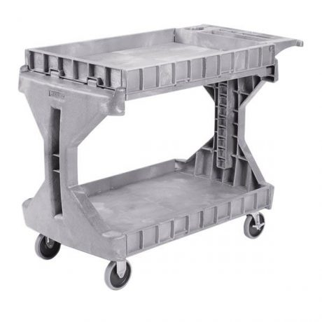 Large Utility Cart with Box Work Surface