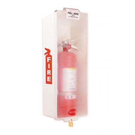 White Fire Extinguisher Cabinet