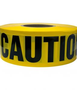Yellow/Black Barricade Caution Tape 3-Inch Roll